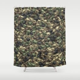 Sloth camouflage Shower Curtain