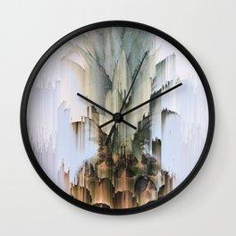 Glitch Pineapple Wall Clock