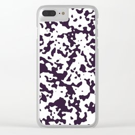 Spots - White and Dark Purple Clear iPhone Case