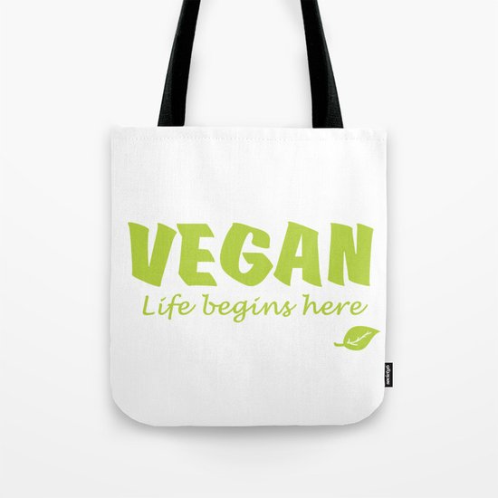 Vegan life begins here green letters by a-conscious-world-vegan