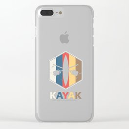 Retro Kayak Water Sports Sailboat Kayaker  Clear iPhone Case