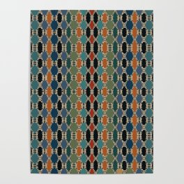 Moroccan Braided Abstract Poster