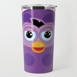Purple Furby Travel Mug