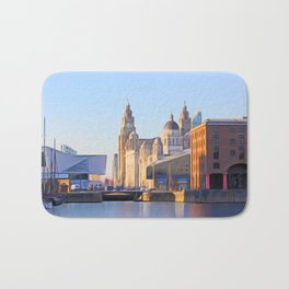 Albert Dock And the 3 Graces Bath Mat