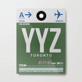 YYZ Toronto Luggage Tag 1 Metal Print