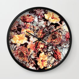 RPE FLORAL ABSTRACT Wall Clock
