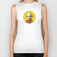 mozart Biker Tanks featuring Mozart Kugel Yellow by Marko Köppe