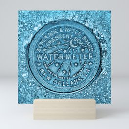 Blue Water Meter New Orleans Sewer Ford Louisiana Mini Art Print