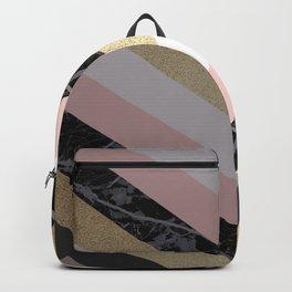 Chevron Pattern 1. Marble and Glitter #decor #buyart Backpack