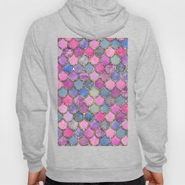 Colorful Pink Mermaid Scales Hoody