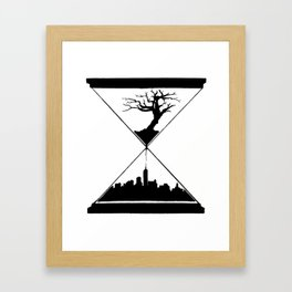 The Hourglass Framed Art Print