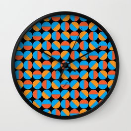 45's Orange/Blue Wall Clock