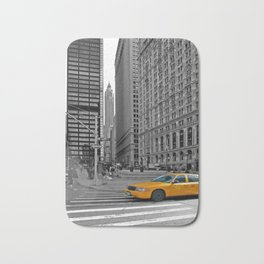 NYC - Yellow Cabs - Trinity Place Bath Mat
