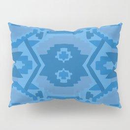 Geometric Aztec in Cobalt Pillow Sham