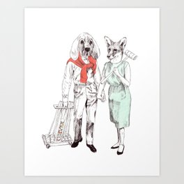 Bestial cricket couple Art Print