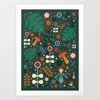 nausicaa Art Prints featuring Nausicaa by Carly Watts