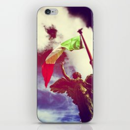The angel and the flag iPhone Skin