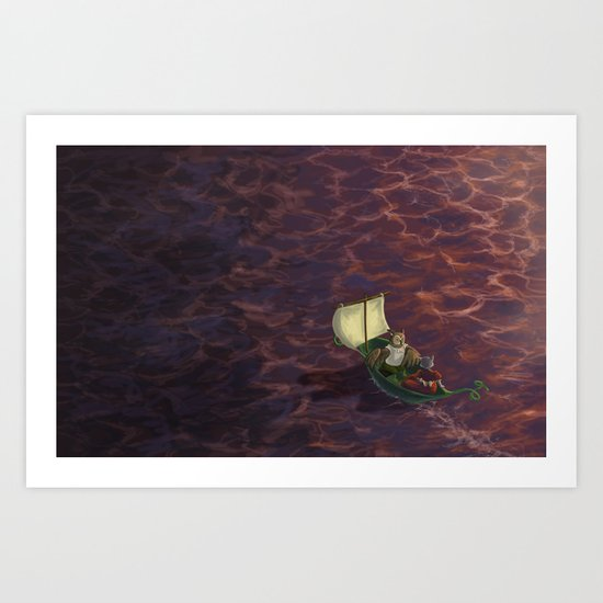 They Went To Sea Art Print