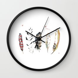 Five Feathers Wall Clock