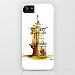 old town . fountain iPhone Case