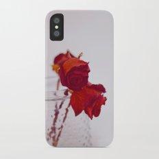 red rose. iPhone X Slim Case