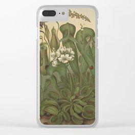 Antique Carnivorous Plants Lithograph Clear iPhone Case