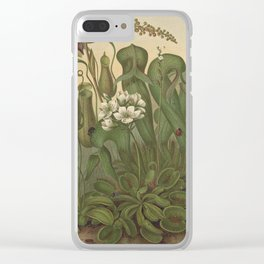 Antique Carnivorous Plants Lithograph Clear iPhone Case