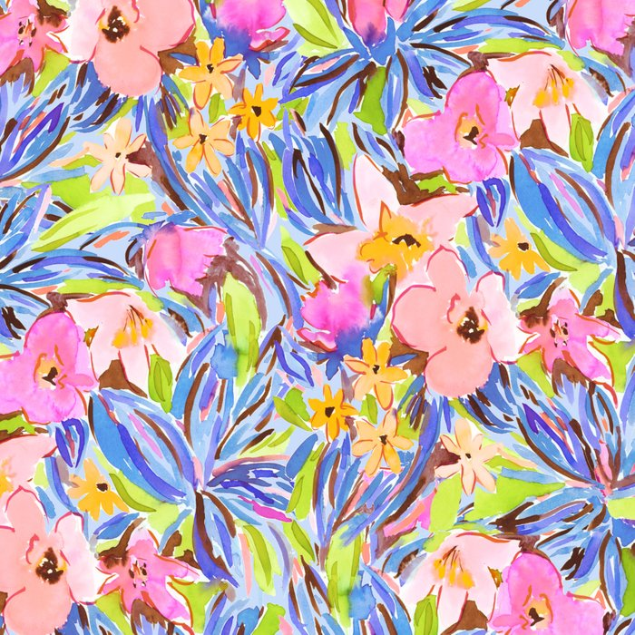 Flaunting Floral Periwinkle Leggings
