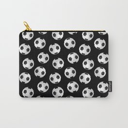Soccer Ball Pattern-Black Carry-All Pouch