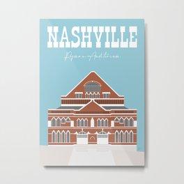 Nashville, Tennessee, Ryman Auditorium Travel Poster Metal Print