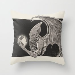 Cthulhu, Master of the Universe // Warm Tone Throw Pillow