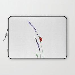 red ladybug and purple lavender Laptop Sleeve