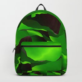 Green frayed abstraction Backpack