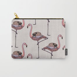Flamingo and Pug Carry-All Pouch