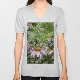 Dance of the Cone Flowers Unisex V-Neck