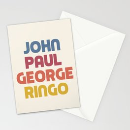 John Paul George Ringo Stationery Cards