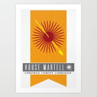 martell Art Prints featuring House Martell Sigil V2 by P3RF3KT