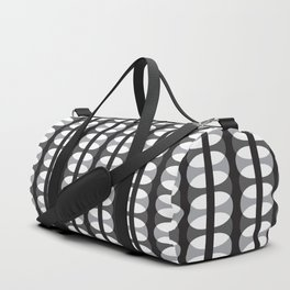 Geometric Pattern #186 (gray ovals) Duffle Bag