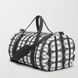 Geometric Pattern 186 (gray ovals) Duffle Bag