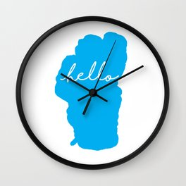 Hello Tahoe Wall Clock
