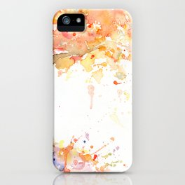 Watercolor Abstract Tree Fall Tree Golden Tree iPhone Case