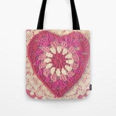 Crochet Valentine Tote Bag