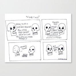 Name Tags Canvas Print