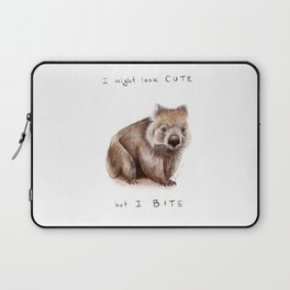 I might look cute, but I bite Laptop Sleeve
