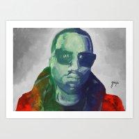 Yeezyportrait Art Print