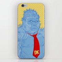 donkey kong iPhone & iPod Skins featuring Donkey Kong by Ismael Álvarez