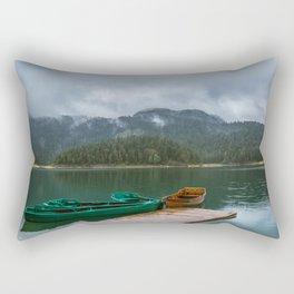 Black Lake Rectangular Pillow