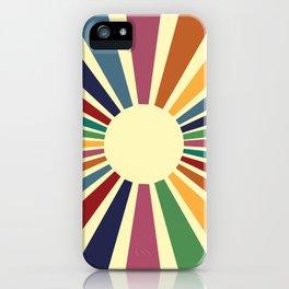 Sun Retro Art II iPhone Case