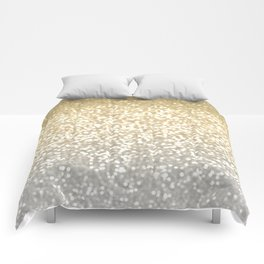 Gold and Silver Glitter Ombre Comforters