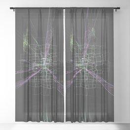 Geometric Cosmic Light 185 Sheer Curtain